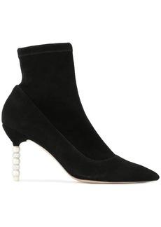 Sophia Webster embellished heel sock boots