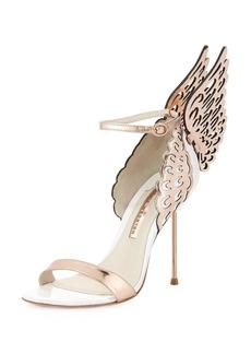 Sophia Webster Evangeline Angel Wing Sandals  Rose Gold/White