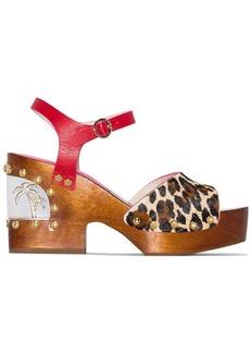 Sophia Webster Paradise leopard print wedge sandals