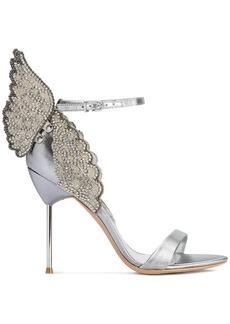 Sophia Webster Silver Evangeline butterfly 100 sandals
