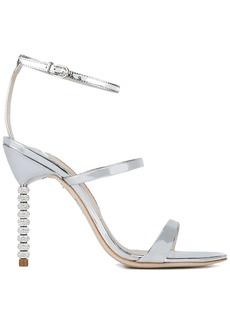 Sophia Webster Silver Leather Rosalind 115 sandals