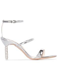 Sophia Webster silver tone rosalind crystal 85 leather sandals