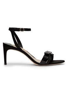 Sophia Webster Andie bow-trim moire sandals