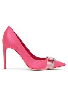 Sophia Webster Andie bow-trim satin point-toe pumps