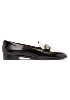 Sophia Webster Blair crystal-trim patent-leather loafers