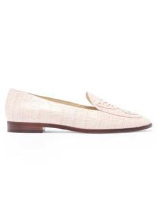 Sophia Webster Butterfly crocodile-effect leather loafers