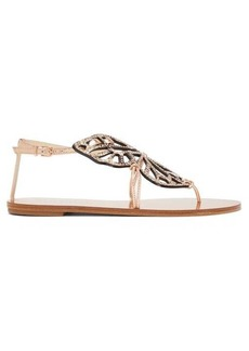 Sophia Webster Butterfly python-print leather sandals