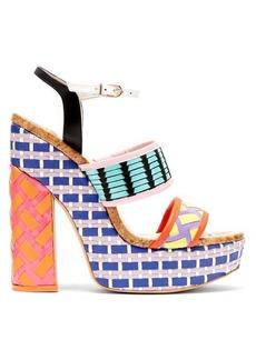 Sophia Webster Celia platform block-heeled sandals