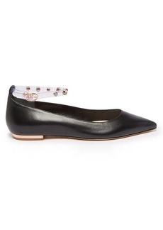 Sophia Webster Dina crystal-embellished leather flats