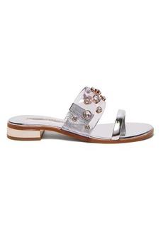 Sophia Webster Dina crystal-embellished PVC and leather sandals