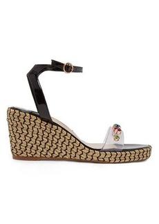 Sophia Webster Dina embellished espadrille wedge sandals
