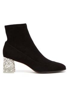 Sophia Webster Felicity embellished suede ankle boots