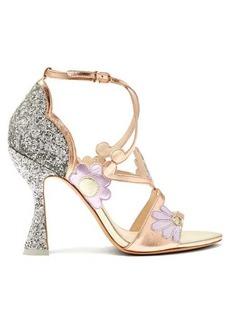 Sophia Webster Frida floral-embellished metallic-leather sandals