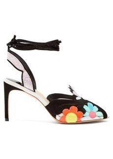 Sophia Webster Frida floral-embellished suede sandals