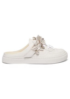Sophia Webster Jessie butterfly leather backless trainers