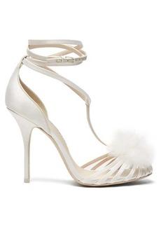 Sophia Webster Jojo Marabou pompom-embellished sandals