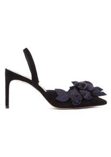 Sophia Webster Jumbo Lilico floral-embellished suede heels