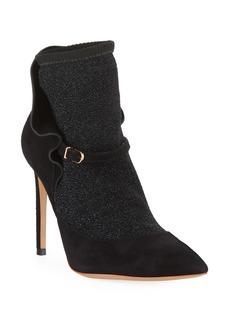 Sophia Webster Lucia Suede Ankle Sock Booties