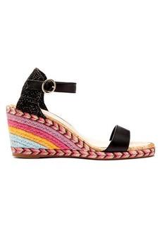 Sophia Webster Lucita rainbow raffia wedge sandals