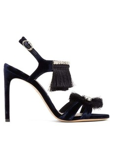Sophia Webster Mariella tasselled velvet sandals
