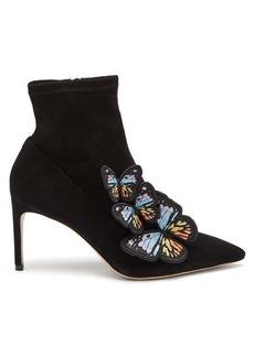 Sophia Webster Riva butterfly appliqué suede boots