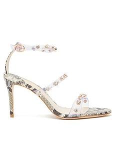 Sophia Webster Rosalind crystal-embellished python-effect sandals