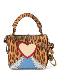 Sophie Hulme leopard heart mini bag