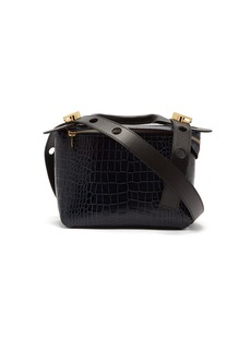 Sophie Hulme Bolt small faux-crocodile shoulder bag