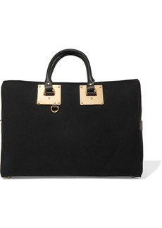Sophie Hulme Cromwell leather-trimmed canvas weekend bag