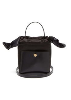 Sophie Hulme Knot Nano leather and satin bag