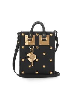 Sophie Hulme Nano Albion studded-heart leather bag