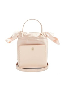 Sophie Hulme Nano Knot leather and satin bucket bag