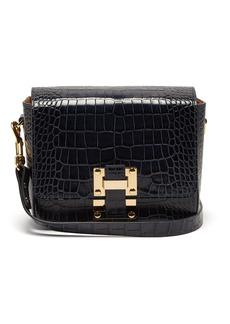 Sophie Hulme Quick crocodile-embossed leather cross-body bag