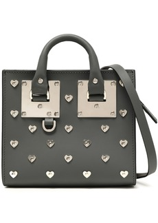 Sophie Hulme Woman Albion Box Hearts Leather Shoulder Bag Anthracite