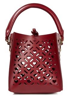 Sophie Hulme Woman Albion Nano Laser-cut Leather Shoulder Bag Burgundy