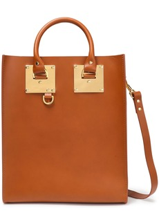 Sophie Hulme Woman Albion Mini Matte-leather Tote Light Brown
