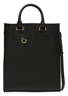 Sophie Hulme Woman Albion Mini Matte-leather Tote Black