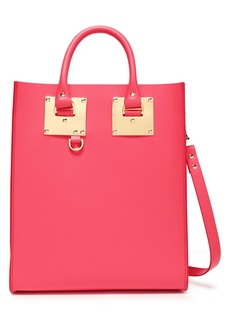 Sophie Hulme Woman Albion Mini Matte-leather Tote Bubblegum
