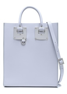 Sophie Hulme Woman Albion Mini Matte-leather Tote Light Gray