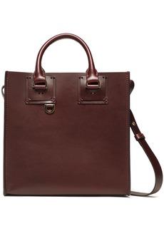 Sophie Hulme Woman Albion Square Matte-leather Shoulder Bag Merlot