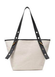 Sophie Hulme Woman Bolt Leather-trimmed Canvas Tote Black