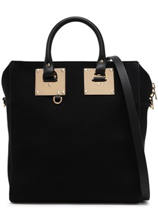 Sophie Hulme Woman Cromwell Mini Leather-trimmed Canvas Tote Black