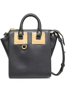 Sophie Hulme Woman Holmes North South Leather Shoulder Bag Charcoal