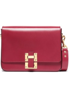 Sophie Hulme Woman The Quick Large Matte-leather Shoulder Bag Claret