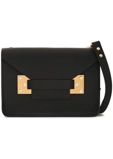 Sophie Hulme Woman Milner Mini Matte-leather Shoulder Bag Black