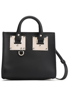 Sophie Hulme Woman Albion Box Leather Shoulder Bag Black