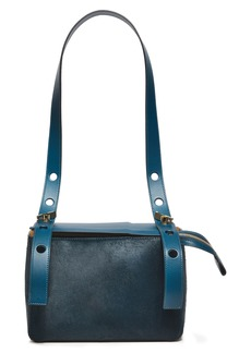 Sophie Hulme Woman The Bolt Calf Hair And Leather Shoulder Bag Petrol