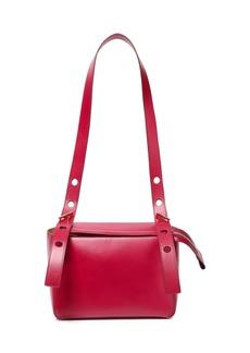 Sophie Hulme Woman The Bolt Leather Shoulder Bag Magenta