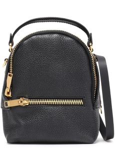Sophie Hulme Woman Wilson Convertible Textured-leather Backpack Black