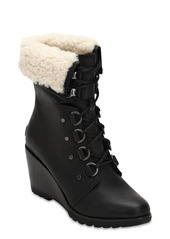 Sorel After Hours Shearling Lace-up Boots